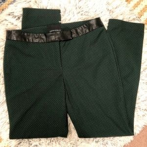 Cynthia Rowley Green Polka Dot Dress Pants